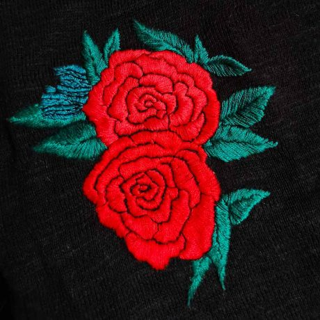 MAKE-ME-STITCH-ROSES kit de broderie